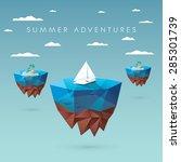 summer holiday concept design.... | Shutterstock .eps vector #285301739