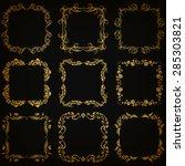 vector set of decorative hand... | Shutterstock .eps vector #285303821