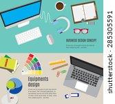 equipment design work space. | Shutterstock .eps vector #285305591