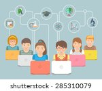 modern flat conceptual vector...   Shutterstock .eps vector #285310079