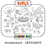 big coloring book or coloring... | Shutterstock .eps vector #285318695