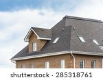 chimney on the roof of the... | Shutterstock . vector #285318761