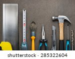 various carpentry  construction ... | Shutterstock . vector #285322604