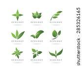 eco green logos vector | Shutterstock .eps vector #285326165