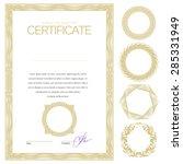 certificate. template diplomas  ... | Shutterstock .eps vector #285331949