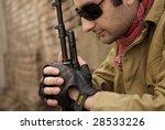 the Arabian military man - stock photo