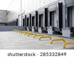 big distribution warehouse with ... | Shutterstock . vector #285332849