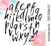 handwritten alphabet  ink hand... | Shutterstock .eps vector #285338615