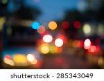 abstract bokeh traffic light... | Shutterstock . vector #285343049