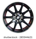 car wheel  car alloy rim on... | Shutterstock . vector #285344621