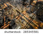 city abstract of bangkok... | Shutterstock . vector #285345581