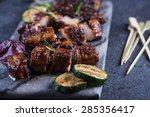Grilled Pork Belly Slices On...