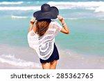 summer fashion portrait of...   Shutterstock . vector #285362765