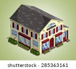 village shop for isometric game ... | Shutterstock . vector #285363161
