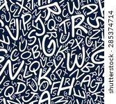 plenty white alphabet letters... | Shutterstock .eps vector #285374714