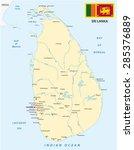 sri lanka map with flag   Shutterstock .eps vector #285376889