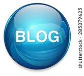 blog icon   Shutterstock .eps vector #285379625