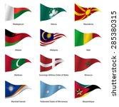 set  flags of world sovereign... | Shutterstock .eps vector #285380315