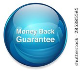 money back guaranteed  button | Shutterstock .eps vector #285385565