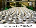 thousands of beverage aluminum... | Shutterstock . vector #285402419