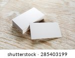 photo of blank business cards... | Shutterstock . vector #285403199