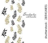palm  fern  leaves seamless...   Shutterstock .eps vector #285414851