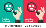 positive and negative feedback... | Shutterstock .eps vector #285414899