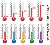 set of thermometers with... | Shutterstock .eps vector #285421325