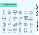 thin line icons set. icons for... | Shutterstock .eps vector #285422459