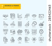 Thin line icons set. Icons for business, finance, m-banking.     | Shutterstock vector #285422465