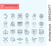 thin line icons set. icons for... | Shutterstock .eps vector #285422477