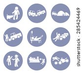 insurances type and accident... | Shutterstock .eps vector #285424469