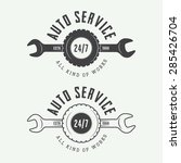 set of vintage mechanic labels  ... | Shutterstock .eps vector #285426704