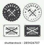 set of vintage mechanic labels  ... | Shutterstock .eps vector #285426707