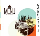 restaurant menu design. vector... | Shutterstock .eps vector #285427445