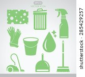 cleaning icon set. template... | Shutterstock .eps vector #285429257
