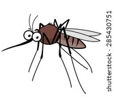Cartoon Mosquito Character....