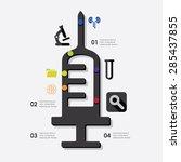 medicine infographic | Shutterstock .eps vector #285437855