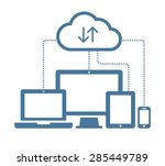 cloud computing network... | Shutterstock .eps vector #285449789