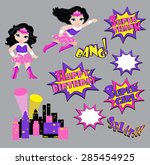 colorful cartoon text captions. ...   Shutterstock .eps vector #285454925