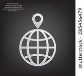 pin on globe icon | Shutterstock .eps vector #285456479