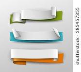 vector banners set. | Shutterstock .eps vector #285457355