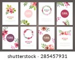 set of brochures templates with ... | Shutterstock .eps vector #285457931