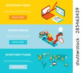 business investment banners.... | Shutterstock .eps vector #285463439