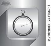 stopwatch web black icon... | Shutterstock .eps vector #285466745