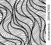 seamless pattern with flow... | Shutterstock .eps vector #285467435