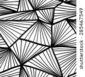seamless pattern with geometric ... | Shutterstock .eps vector #285467549
