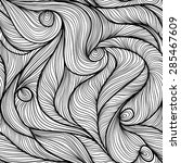 seamless pattern with flow... | Shutterstock .eps vector #285467609