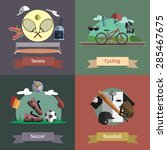 tennis cycling baseball soccer... | Shutterstock .eps vector #285467675