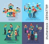 fatherhood design concept set...   Shutterstock .eps vector #285467789